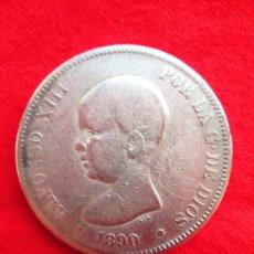 Monedas de España: MONEDA DE PLATA DE ALFONSO XIII 1890 DE 5 PTS. MODELO 53 PGM.- PELON.. Lote 178003125