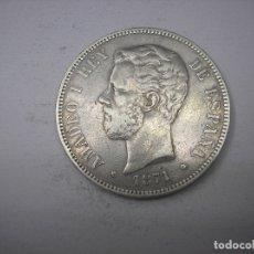 Monedas de España: 5 PESETAS DE PLATA DE 1871. 18-71. REY AMADEO I DE SABOYA. Lote 178007873