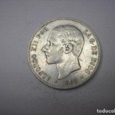 Monedas de España: 5 PESETAS DE PLATA DE 1885. 18-87. REY ALFONSO XII.. Lote 178008355