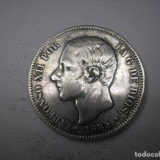 Monedas de España: 5 PESETAS DE PLATA DE 1885. 18-87. REY ALFONSO XII.. Lote 178050025