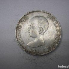 Monedas de España: 5 PESETAS DE PLATA DE 1891. 18-91. REY ALFONSO XIII. . Lote 178050604