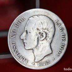 Monedas de España: ESPAÑA 5 PESETAS ALFONSO XII 1883 MS M PLATA REF- 512. Lote 178066058