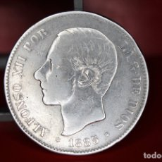Monedas de España: ESPAÑA 5 PESETAS ALFONSO XII 1885 ESTRELLAS 18-87 - MS M PLATA REF- 3169. Lote 178066957