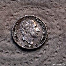 Monedas de España: ALFONSO XII, 10 CENTAVOS DE PESO DE 1885 - PLATA. Lote 178078699