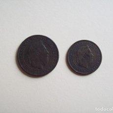 Monedas de España: LOTE DE 2 MONEDAS DE CARLOS VII. Lote 178257371