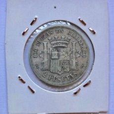 Monedas de España: MONEDA DE PLATA DE 2 PESETAS, DE 1870.. Lote 178390026