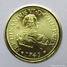 Monedas de España: 8 ESCUDOS-ONZA, 1749. FERNANDO VI CECA DE MADRID REPLICA EN PLATA DE 925/000 DE LA F.N.M.T LOTE 1989. Lote 178589650