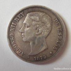 Monedas de España: 5 PESETAS PLATA ALFONSO XII DE 1875. Lote 178600138