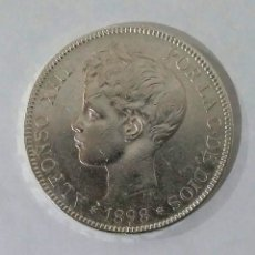 Monedas de España: 5 PESETAS PLATA 1898 ALFONSO XIII,ESTRELLAS PERFECTAMENTE VISIBLES. Lote 178610547