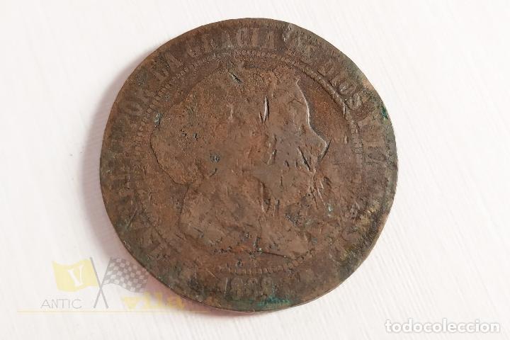 MONEDA DE 5 CÉNTIMOS DE ISABEL II - 1868 (Numismática - España Modernas y Contemporáneas - De Isabel II (1.834) a Alfonso XIII (1.931))