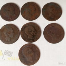 Monedas de España: LOTE DE 7 MONEDAS DEL ALFONSO XII - 5 CÉNTIMO - 1877. Lote 178667232