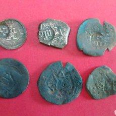 Monedas de España: LOTE DE 6 RESELLOS DE LOS AUSTRIAS.. Lote 178751862