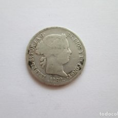 Monedas de España: ISABEL II * 20 CENTAVOS DE PESO 1868 FILIPINAS * PLATA. Lote 178785902