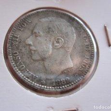 Monedas de España: ALFONSO XII 1 PTA. 1882 18-82 PLATA. Lote 178845472