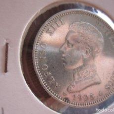 Monedas de España: ALFONSO XIII 2 PTA. 1905-19-05 PLATA. Lote 178845978
