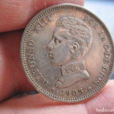 Monedas de España: ALFONSO XII 2 PTAS. 1905-19-05 PLATA. Lote 178846646
