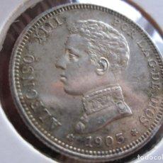 Monedas de España: ALFONSO XII 2 PTAS. 1905-19-05 PLATA. Lote 178846727