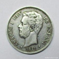 Monedas de España: AMADEO I, 5 PESETAS DE PLATA 1871 * 18 - 75. DURO DE PLATA. LOTE 1845. Lote 194774198