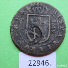 Monedas de España: ESPAÑA SEGOVIA, 12 MARAVEDÍES RESELLADO SOBRE 8 1619 , FELIPE III, º, INFLACIÓN XII VIII, MARAVEDÍS. Lote 179000736