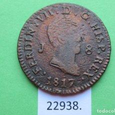 Monedas de España: ESPAÑA 8 MARAVEDIS 1817 JUBIA, FERNANDO VII ,7º MARAVEDIES. Lote 179002050