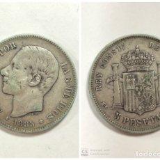 Monedas de España: MONEDA 5 PESETAS DE PLATA 1885. * ESTRELLA LEGIBLE 18 - 85. PESO 24.6 GR. ALFONSO XII. MSM.. Lote 254292955