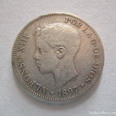 Monedas de España: ALFONSO XIII. 5 PESETAS DE PLATA . AÑO 1897.. Lote 179187166