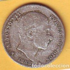 Monedas de España: ALFONSO XII 20 CENTAVOS DE PESO MANILA 1885. Lote 179229227