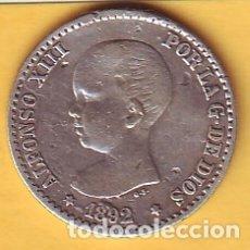 Monedas de España: 50 CTMS. DE ALFONSO XIII AÑO 1892 . Lote 179233415