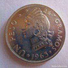 Monedas de España: REPUBLICA DOMINICANA . UN PESO DE PLATA ANTIGUO . MODULO DE UNA ONZA . SIN CIRCULAR. Lote 179319660