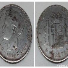 Monedas de España: MONEDA 5 PTS PLATA ALFONSO XIII AÑO 1898. Lote 179330656