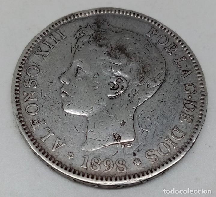 Monedas de España: MONEDA 5 PTS PLATA ALFONSO XIII AÑO 1898 - Foto 2 - 179330656