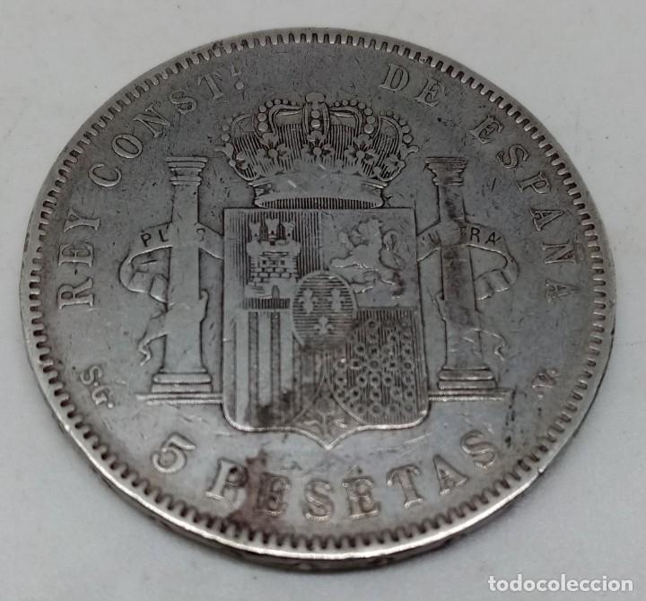 Monedas de España: MONEDA 5 PTS PLATA ALFONSO XIII AÑO 1898 - Foto 3 - 179330656