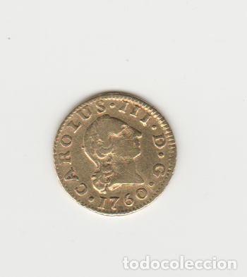 CARLOS III- 1/2 ESCUDO- 1760-SEVILLA-JV (Numismática - España Modernas y Contemporáneas - De Reyes Católicos (1.474) a Fernando VII (1.833))
