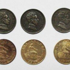 Monedas de España: CONJUNTO DE 10 MONEDAS DE 2 CENTIMOS DEL GOBIERNO PROVISIONAL Y DE ALFONSO XIII. LOTE 2044. Lote 179615052