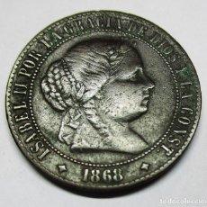 Monedas de España: ISABEL II, 1868. MONEDA DE 2 1/2 CENTIMOS DE ESCUDO, CECA DE JUBIA. LOTE 2047. Lote 180017686