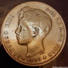 Monedas de España: 1 PESETA PLATA 1899*18*99 SG-V !! ESTRELLAS VISIBLES !!. Lote 180034450