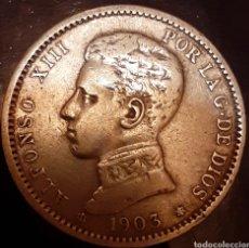 Monedas de España: 1 PESETA PLATA 1903*19*03 SM-V !! ESTRELLAS PERFECTAS !!. Lote 180034740