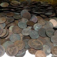 Monedas de España: LOTE 5 KILOS MONEDAS DE COBRE S XIX TODAS ORIGINALES. Lote 180103743