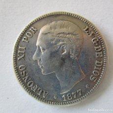 Monedas de España: ALFONSO XII . 5 PESETAS DE PLATA . AÑO 1877. Lote 180126045
