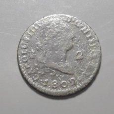 Monedas de España: 2 MARAVEDÍS 1802 SEGOVIA - ÉPOCA CARLOS IV. Lote 180273138
