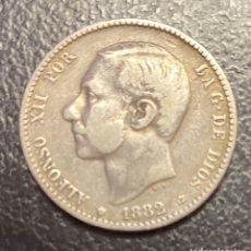 Monedas de España: ESPAÑA UNA PESETA ALFONSO XII. Lote 180447050