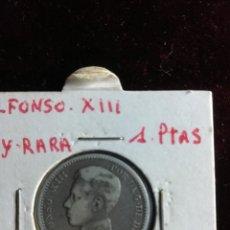 Monedas de España: UNA PESETA DE ALFONSO XIII 1905 . MUY RARA , EN ESTRELLA 19*0. Lote 180498413