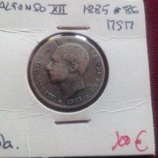 Monedas de España: PESETA DE PLATA DE 1885. 2ª ESTRELLA VISIBLE 86 Y MUY BIEN. Lote 181075396