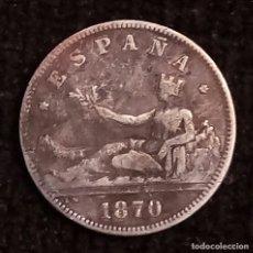 Monedas de España: ESPAÑA 2 PESETAS 1870 - - *75*. Lote 181117438