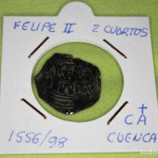 Monedas de España: FELIPE II 2 CUARTOS 1556-98 CECA CA CUENCA REFE; 2871. Lote 181140098