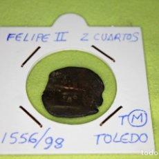 Monedas de España: FELIPE II 2 CUARTOS 1556-98 CECA T TOLEDO REFE; 2874. Lote 181140362