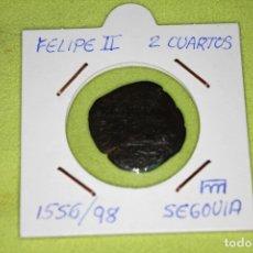 Monedas de España: FELIPE II 2 CUARTOS 1556-98 CECA SEGOVIA REFE; 2879. Lote 181140905