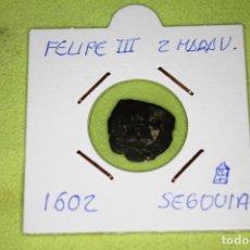 Monedas de España: FELIPE III 2 MARAVEDIS 1602 CECA SEGOVIA REFE; 2885. Lote 181146615
