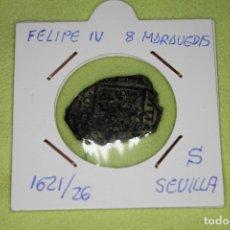 Monedas de España: FELIPE IV 8 MARAVEDÍS 1621-26 CECA S SEVILLA REFE; 2892. Lote 181148718