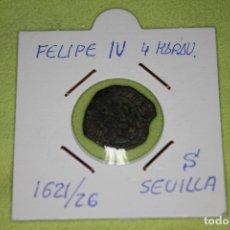 Monedas de España: FELIPE IV 4 MARAVEDÍS 1621-26 CECA S SEVILLA REFE; 2896. Lote 181149171